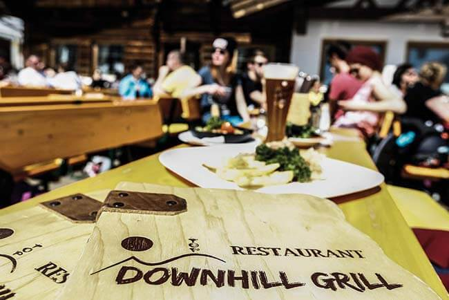 Downhill Grill Eating and drinking in Obergurgl-Hochgurgl ski resort Ötztal valley Tyrol